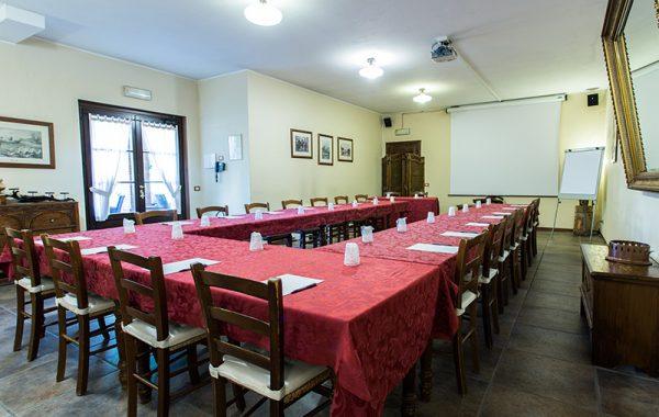 allestimento spazio per meeting
