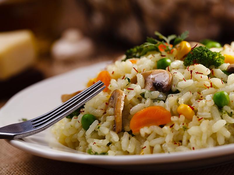 risotto con verdure miste